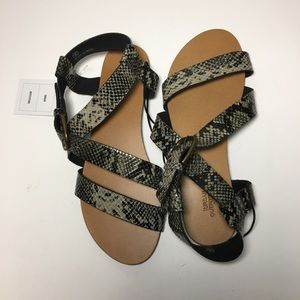 New Urban Outfitters Snake Skin Sandals Sz 6